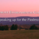 Speaking Up for the Piedmont