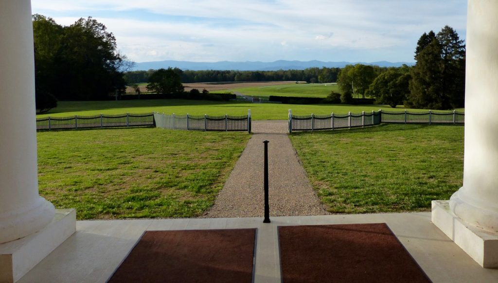 View of the Blue Ridge Mountains from the front porch of Montpelier
