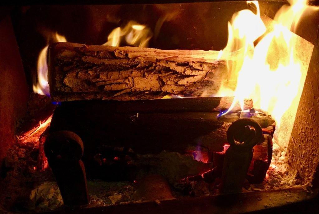 Carbon in my burning log