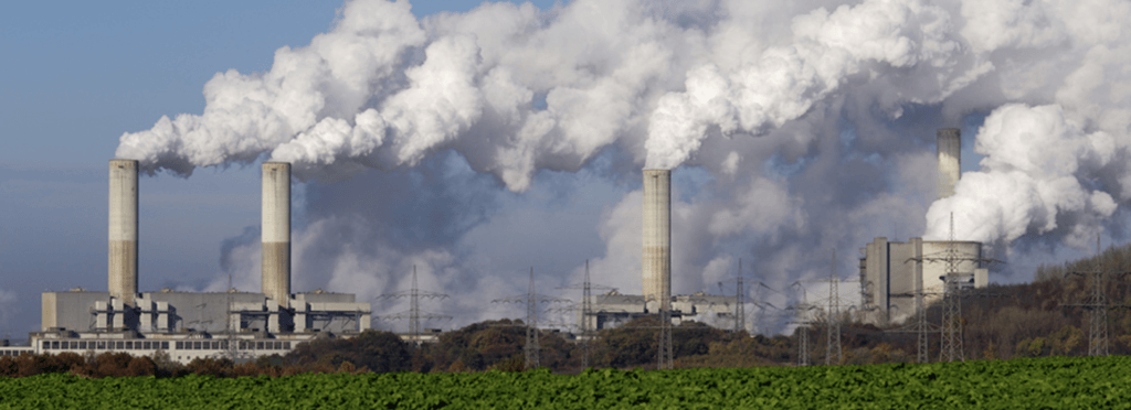 Coal-fired power plants emit carbon dioxide.