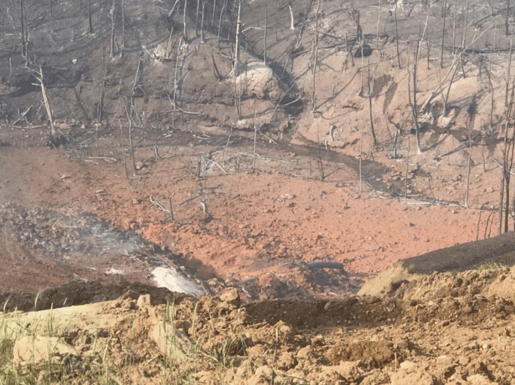 Result of pipeline explosion in Moundsville, WVA