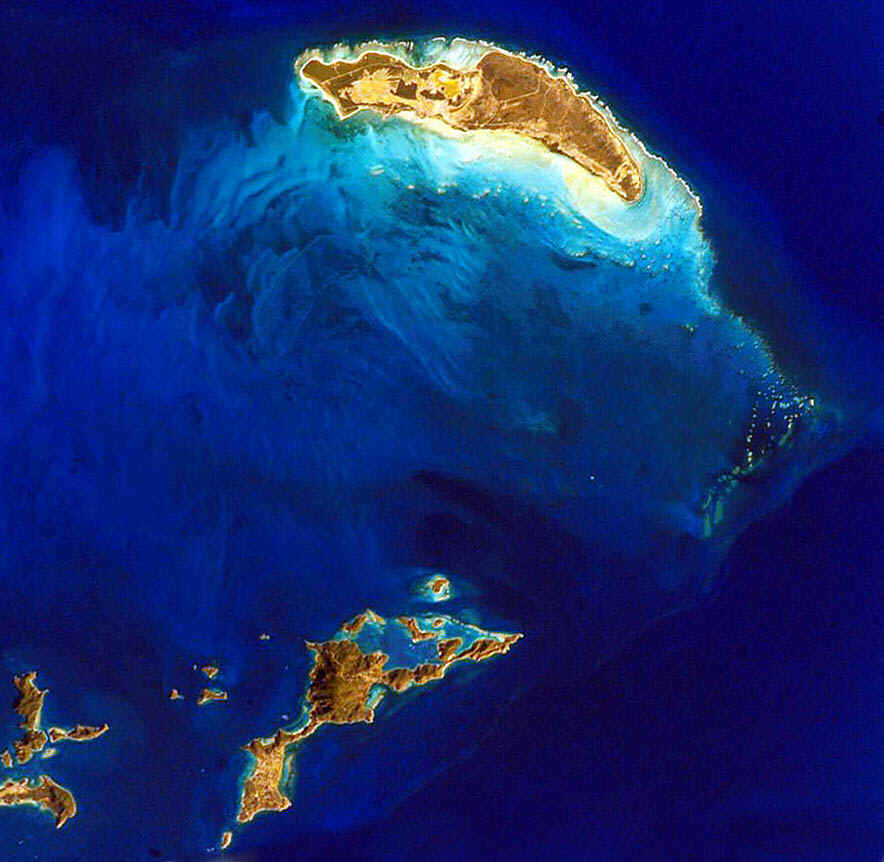 Anegada from space.